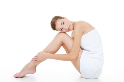 Healthy adult Woman with beauty legs